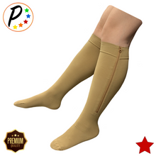 Load image into Gallery viewer, Senior's Premium 20-30 mmHg Firm Compression YKK Zipper Leg Swelling Open/Closed Toe Mix & Match Socks