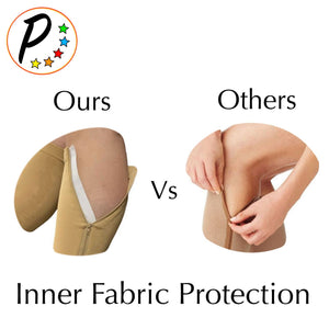Copper Infused 20-30 mmHg Firm Zipper Compression Long Knee Length Open Toe Socks