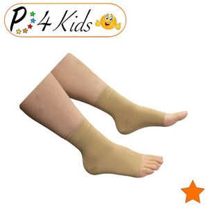 Kid's Ankle 15-20 mmHg Compression Foot Leg Open Closed Toe Sleeve Socks
