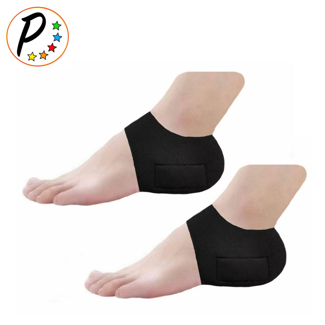 Neoprene With Built-In Gel Silicone Heel Cushioning Ankle Pain Relief 1 Pair