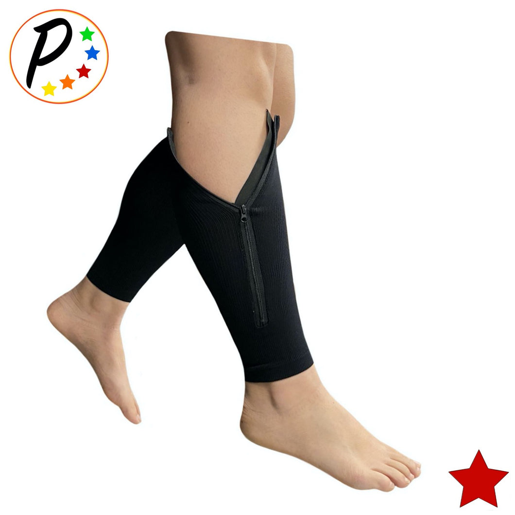 Original Footless 20-30 mmHg Firm Compression Leg Circulation Shin Calf Sleeve With Zipper