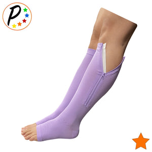 Open Toe 15-20 mmHg Moderate Zipper Compression Swelling Veins Relief Socks