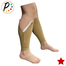 Load image into Gallery viewer, (BIG & TALL) Premium 20-30 mmHg Compression Calf Shin Sleeve With Zipper