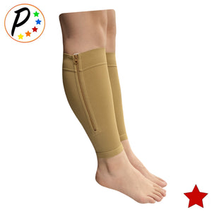(BIG & TALL) Premium 20-30 mmHg Compression Calf Shin Sleeve With Zipper