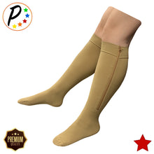 Load image into Gallery viewer, (BIG & TALL) Premium Closed Toe 20-30 mmHg Zipper Firm Compression Leg Swelling Socks