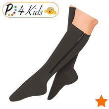 Load image into Gallery viewer, Kid's Edition Open Toe/Closed Toe 15-20 mmHg Moderate Compression Zipper Socks