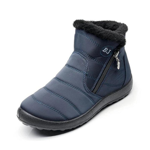 Women's Thick Plush Tarpaulin Snow Boots
