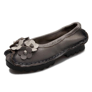 Women  Soft Bottom Flat  Comfortable Flowers Single Shoes