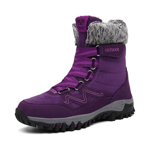 Women Casual Suede Leather Winter Boots