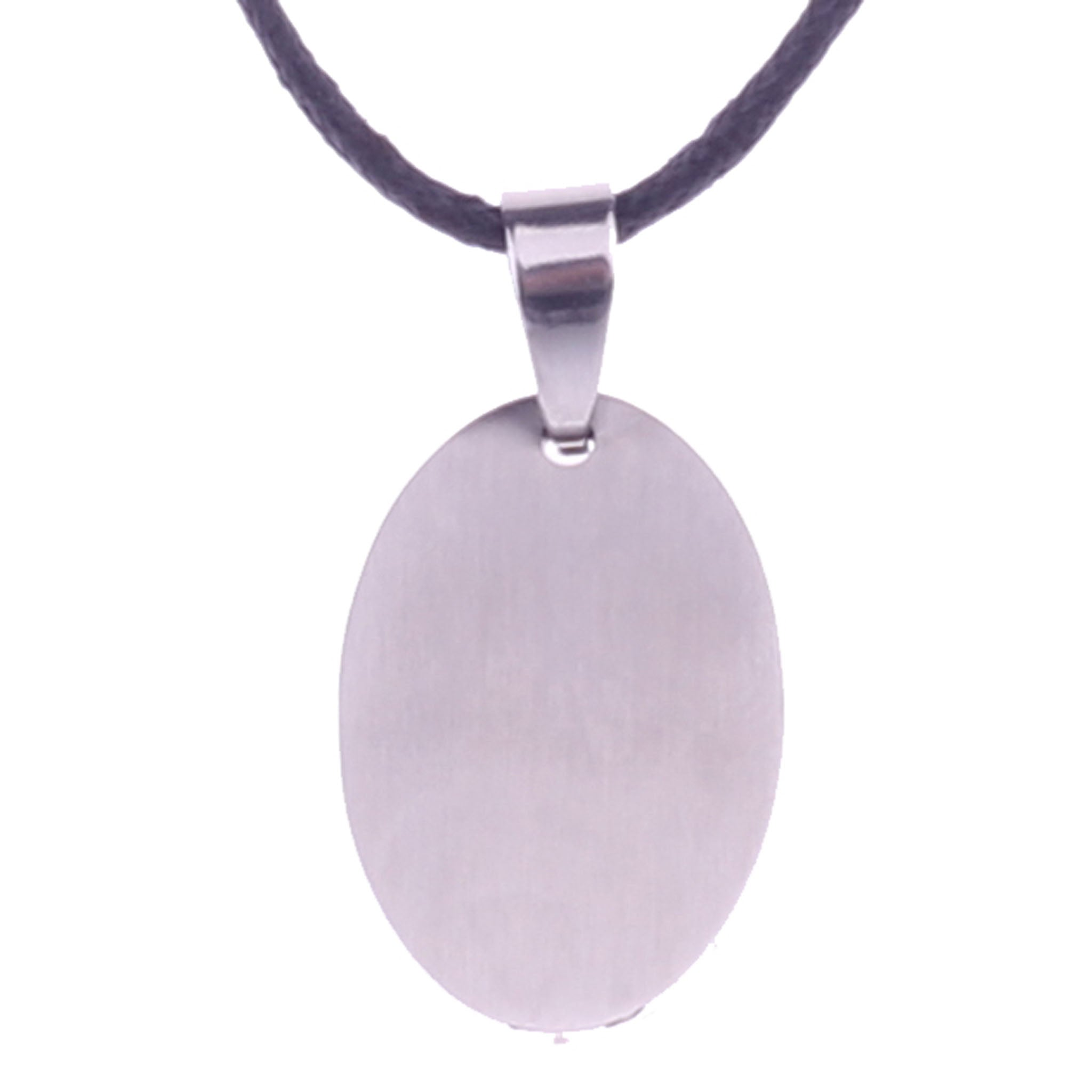 OVAL STEEL PENDANT