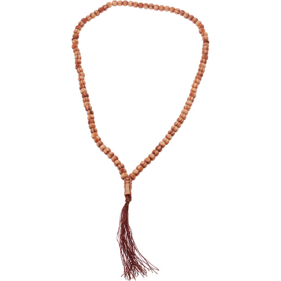 TASSEL WOODEN BEADS NECKLACE