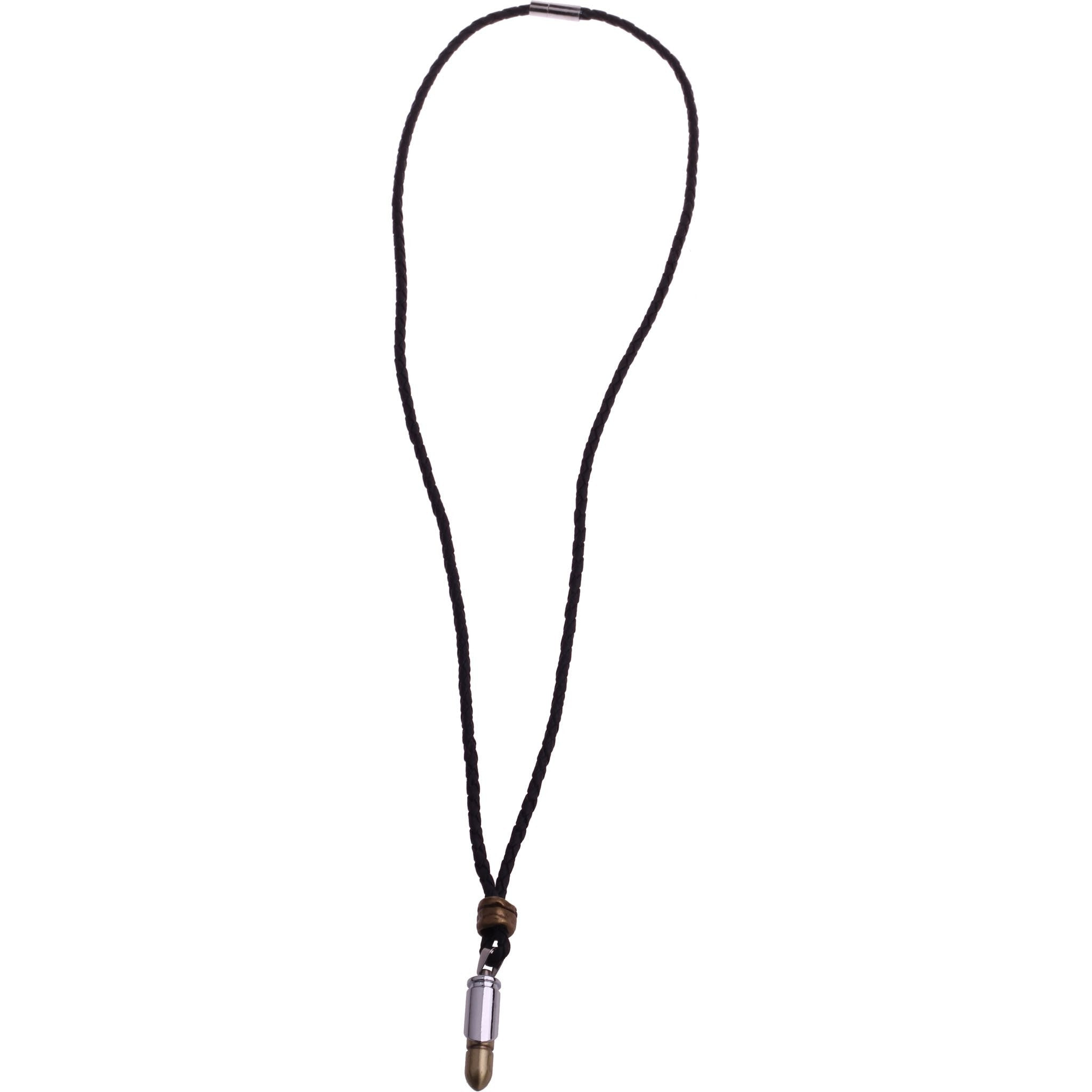 BULLET LEATHER NECKLACE