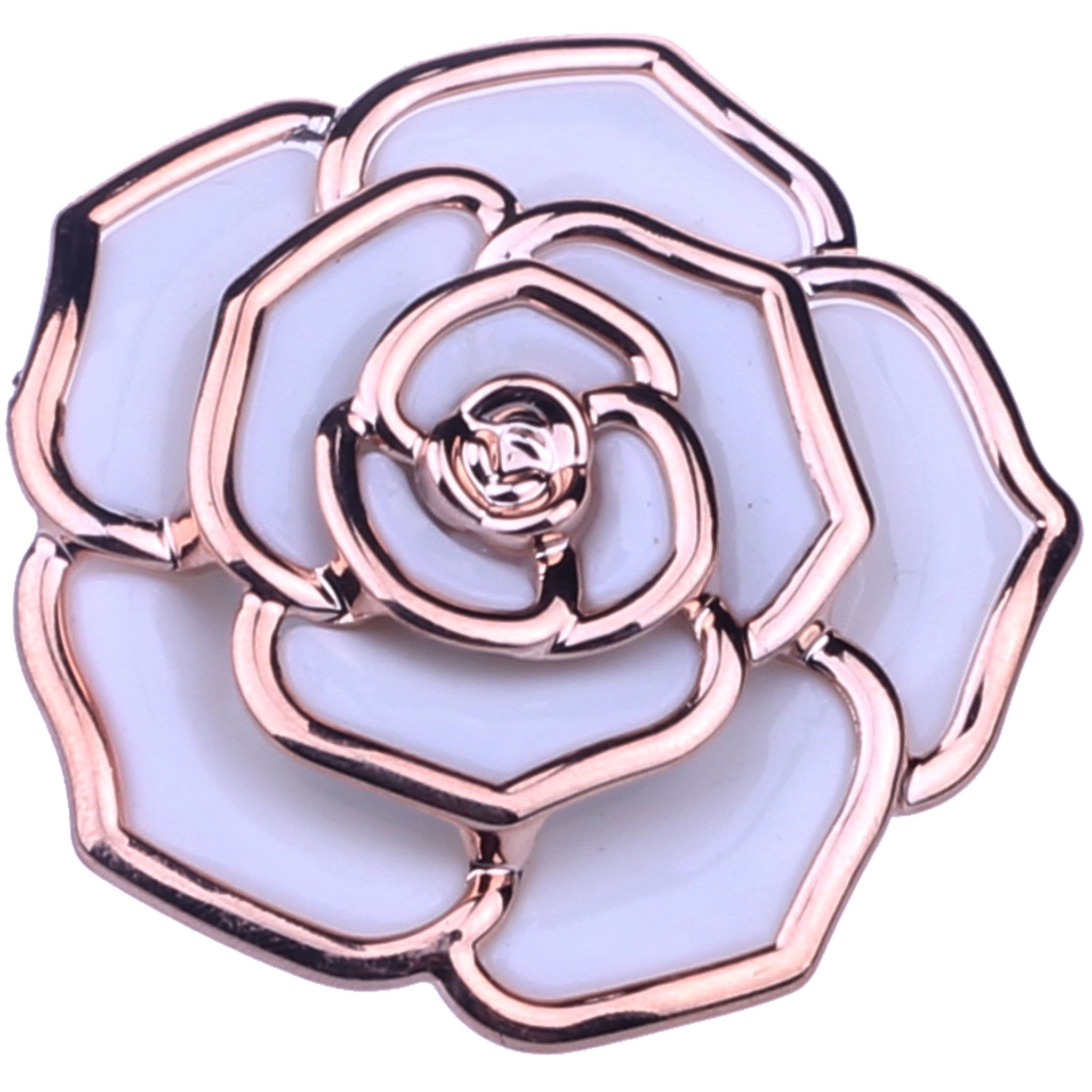 ACRYL ROSE BROOCH