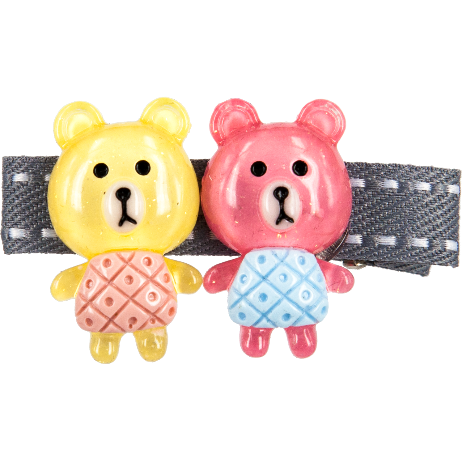 CLIP WITH 2 BEARS