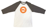 T-Shirt - 3/4 Sleeve Logo - White/Gray