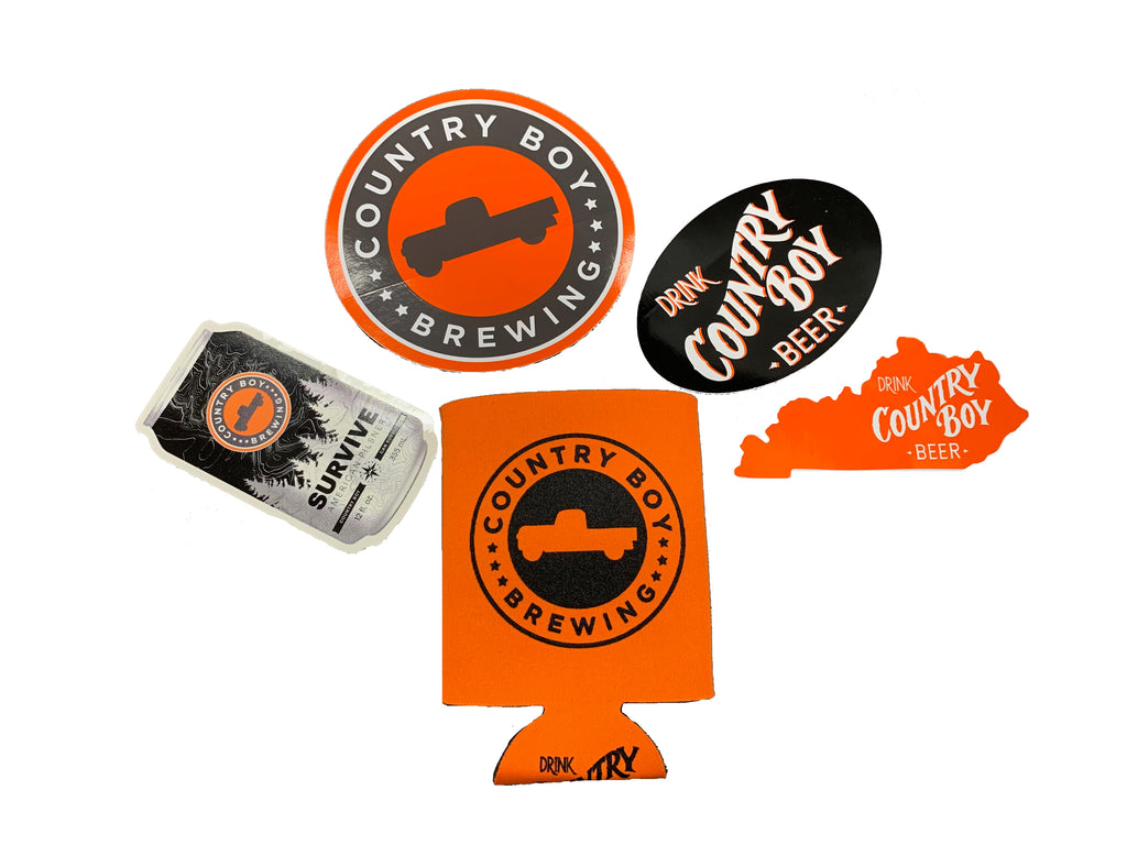 Pack of 4 Stickers + Koozie