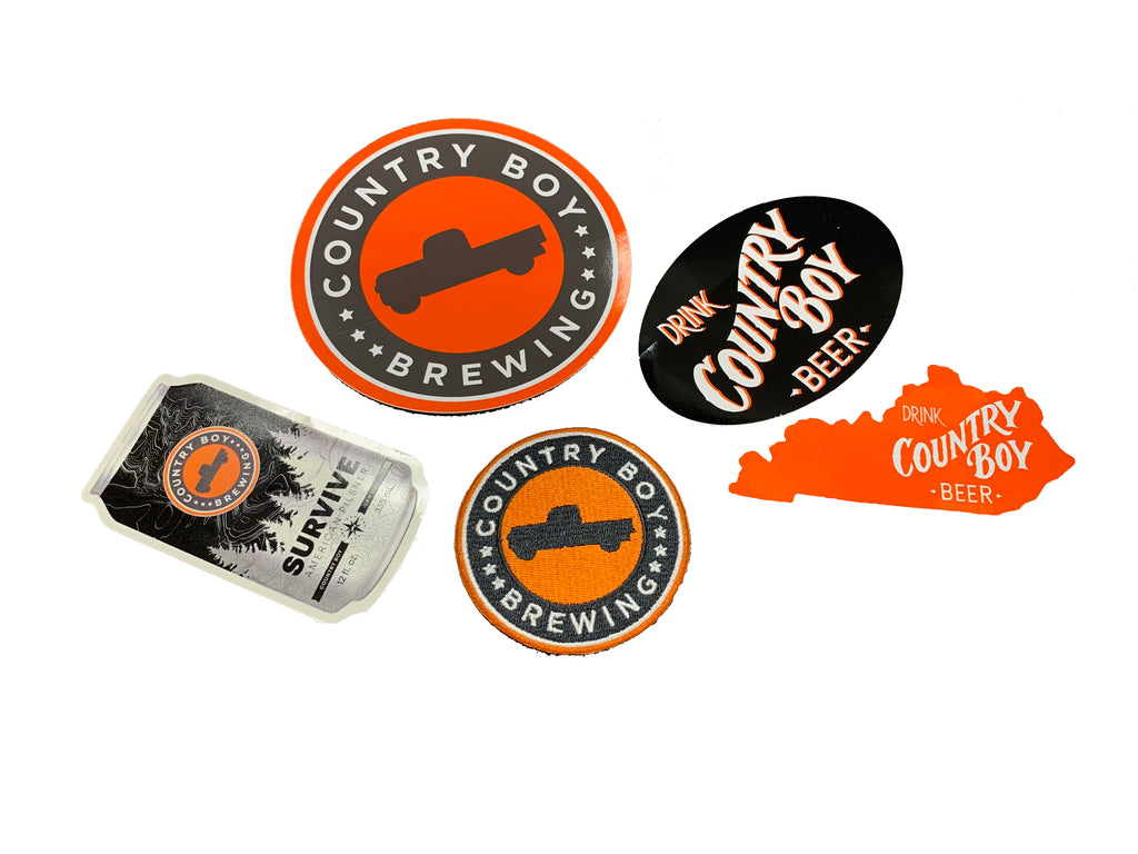 Pack of 4 Stickers + Patch