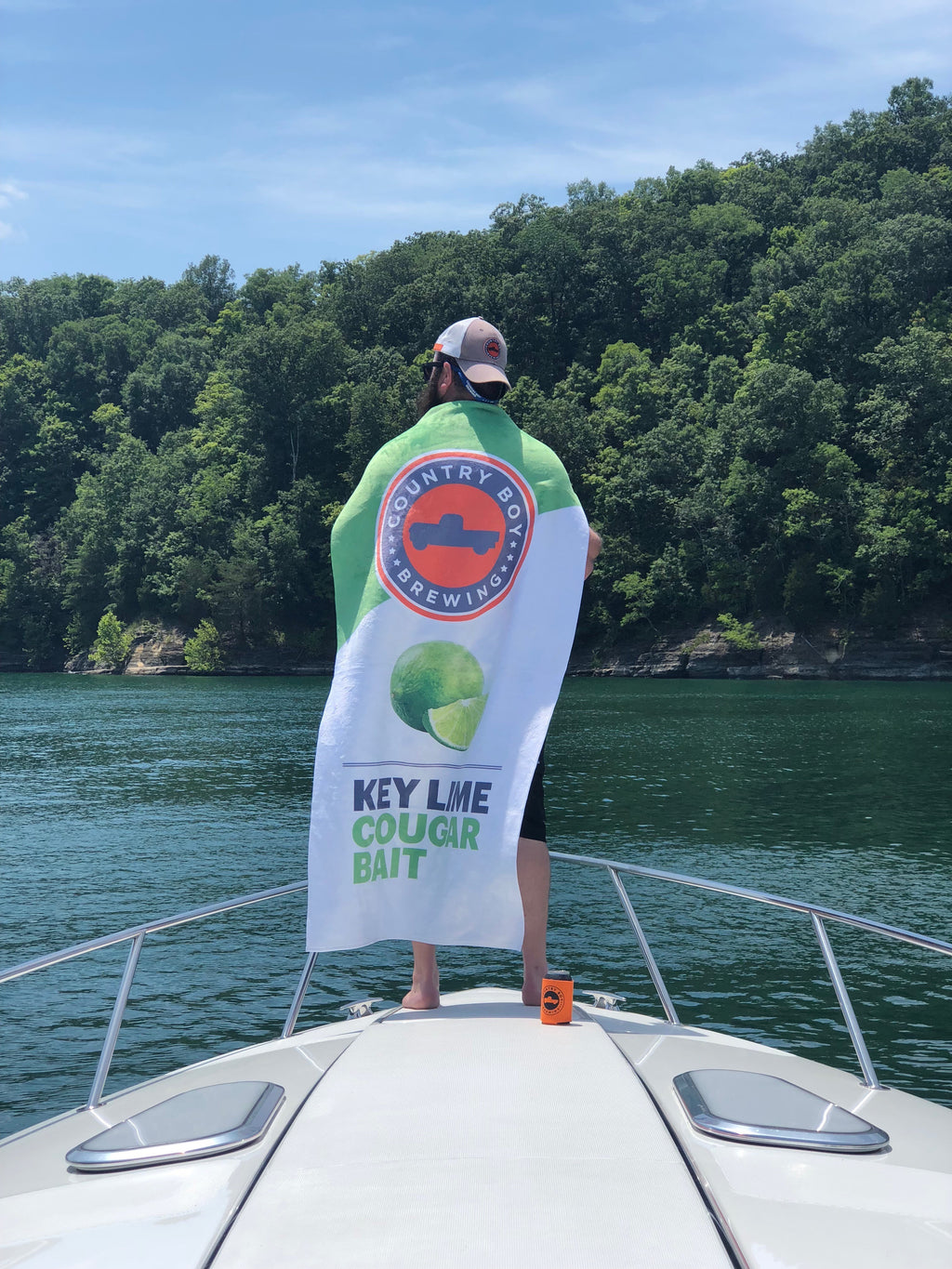 NEW!! - Key Lime Cougar Bait Beach Towel