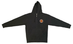Hooded Sweatshirt - Full Zip - Logo - Dark Gray