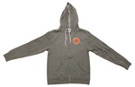 Hooded Sweatshirt - Full Zip - Logo - Light Gray