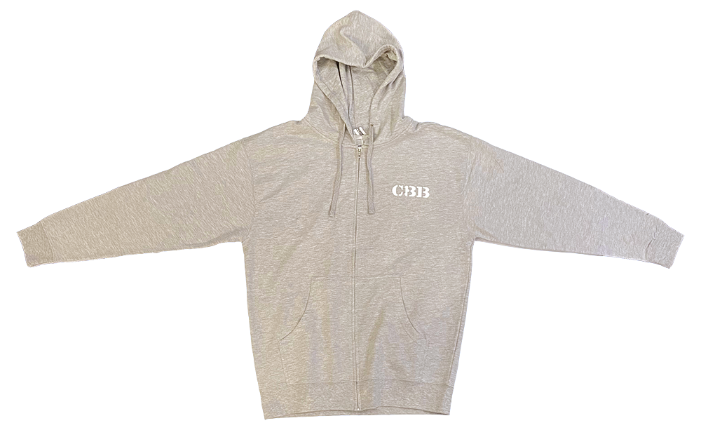 Hooded Sweatshirt - Full Zip - CBB - Light Gray