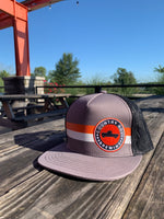 Adjustable Stripe Logo Mesh Hat