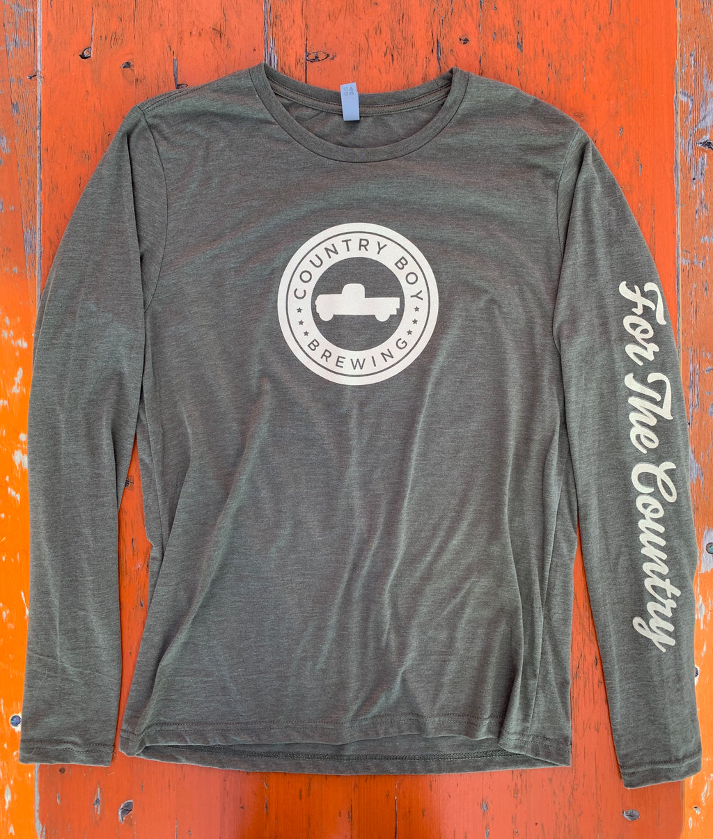 T-Shirt - Long Sleeve Logo - Heather Green