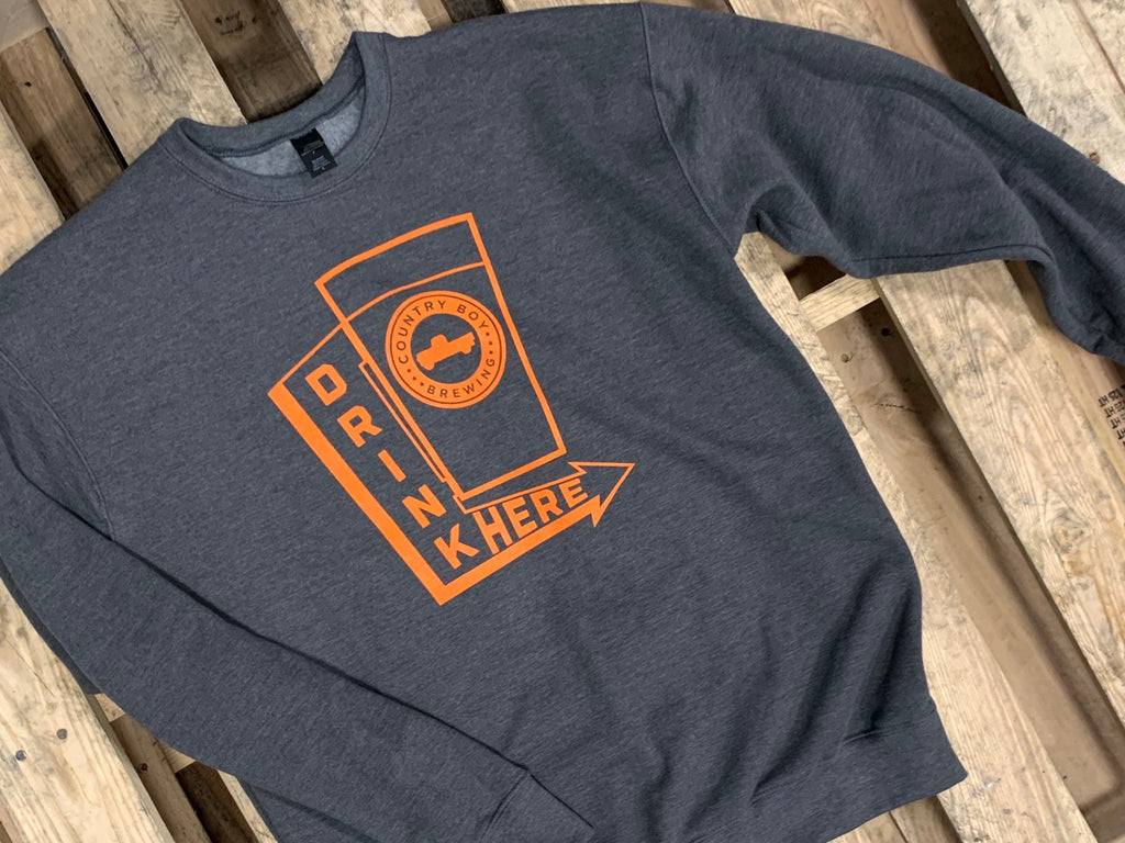 Crew Neck Sweatshirt - Gray