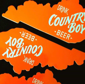 NEW!! - Vinyl Sticker - Drink Country Boy on Kentucky State