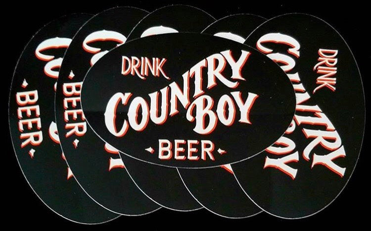 Vinyl Sticker - Drink Country Boy