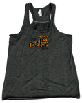 Tank - Ladies Gathered Racerback, Drink Country Boy - Heather Gray