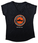 T-Shirt - Ladies Logo V-Neck - Heather Gray