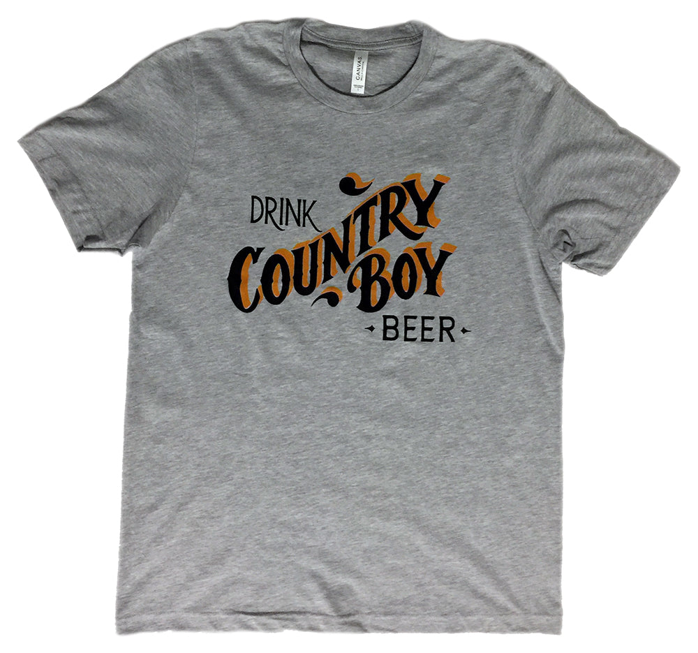 T-Shirt - Drink Country Boy - Light Heather Gray