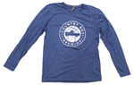 NEW!! - T-Shirt - Long Sleeve Basketball Logo - Heather Blue