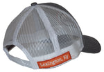 Adjustable Gray & White Mesh Hat