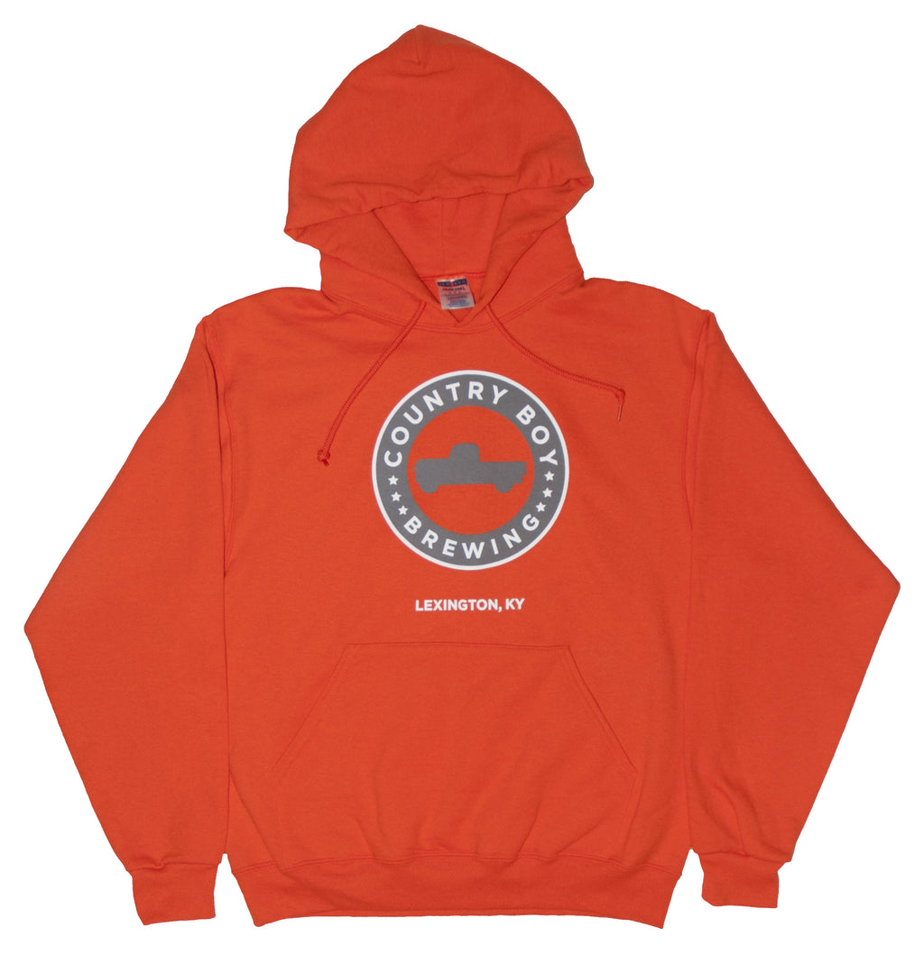 Hooded Sweatshirt - Orange