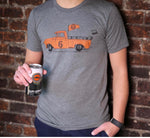 T-Shirt - Truck With Kegs - Heather Gray