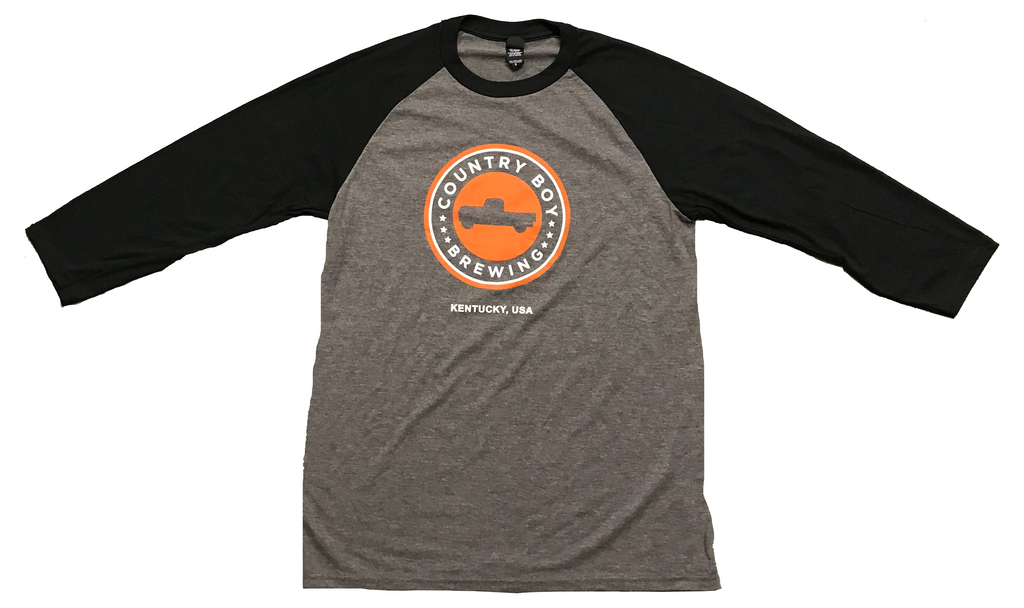 T-Shirt - 3/4 Sleeve Logo - Heather Black/Gray