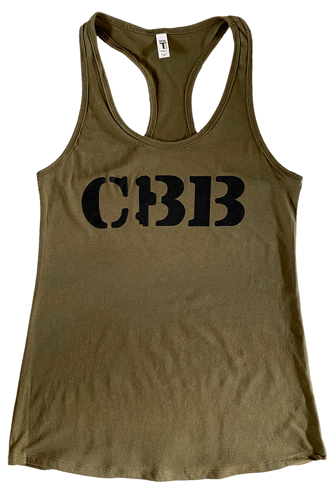 Tank - Ladies CBB Logo - Army Green