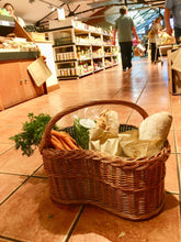 Load image into Gallery viewer, Dee-lightful Wicker Shopping Basket