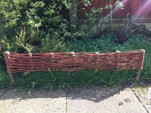 Wicker Flower Boarder Fence