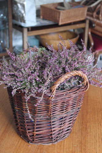 Rustic kindling or flower basket