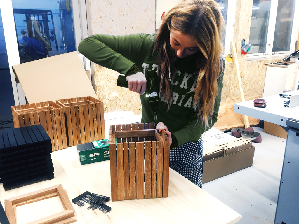 Danish design company, handcrafting sustainable, self-watering plant boxes in wood, made out of up-cycled, high-quality materials
