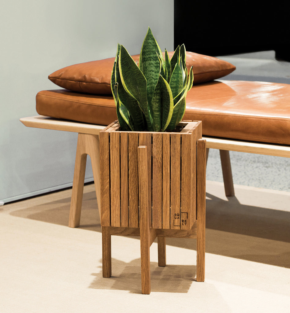 Sustainable Danish design self-watering wooden plant boxes, for outdoor use, perfect for balconies, terraces, indoors, for cafes, restaurants, hotels and offices