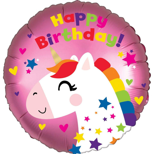 Amscan Folienballon Happy Birthday Folienballon Einhorn 45cm