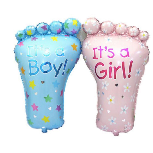 "Amscan Folienballons Folienballon Babyparty Fuß ""It's a Boy"" oder ""It´s a Girl"" 58 x 82 cm"