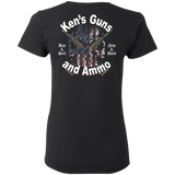 Ken's Guns and Ammo Ladies T-Shirt