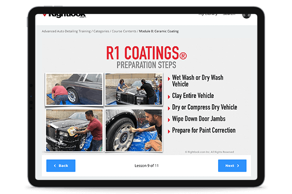 Step-By-Step Instruction from Rightlook Certified Trainers