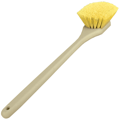Yellow Body and Grill Detailing Brush - Long Handle