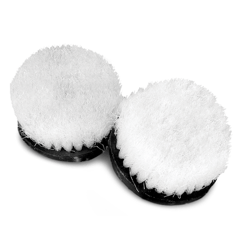 Carpet Shampoo Cyclo Scrub Brushes with White Bristles (Set of 2 Brushes)